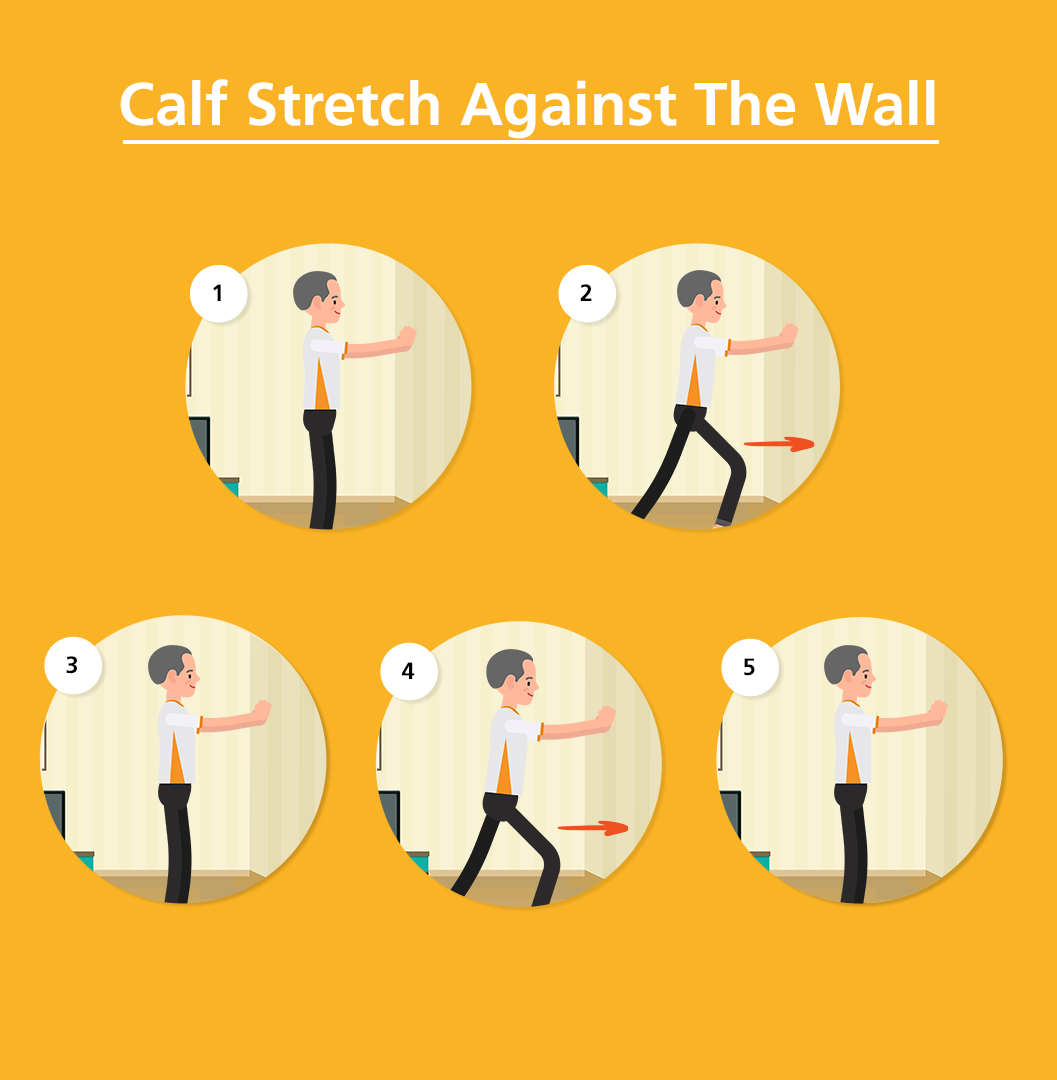 Calf Stretch Against The Wall