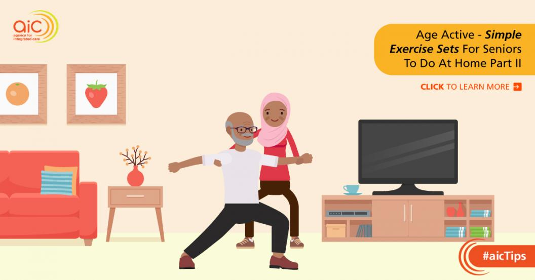 Age Active - Simple Exercise Sets For Seniors To Do At Home Part II